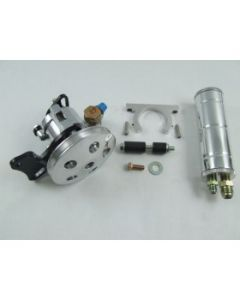 Unisteer 8060580 Chevelle Small Block Short Water Pump Kit w/Remote Resevoir (Polished)