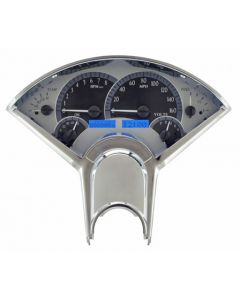 Gauge will be Satin Alloy Background Blue Lights.