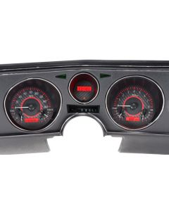 Carbon Fiber Red Gauge.