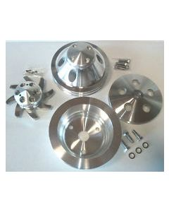 Speed Shop 9485-C Chevy Small Block Complete Pulley Kit (LWP)